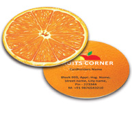 Online Business Card - Die Cut printing Fruit Store