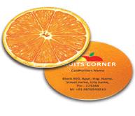 Online Business Card - Die Cut printing Fruit Store