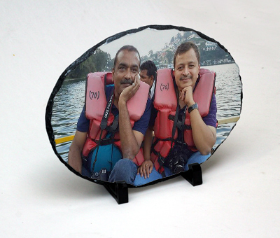Online Photo Gifts printing Photo Stone Oval