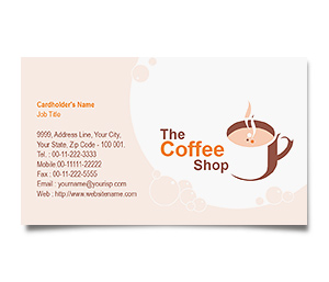 Business Card printing Coffee Shops