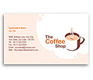 Online Business Card printing Coffee Shops