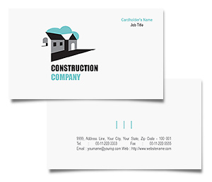 Business Card printing Construction House