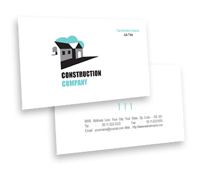 Online Business Card printing Construction House