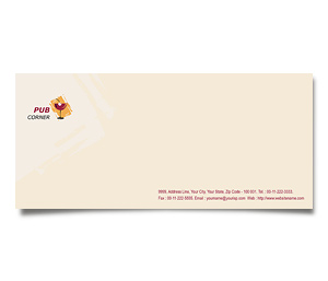 Envelope printing Pub Corner