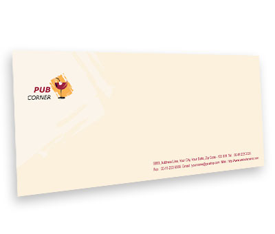 Online Envelope printing Pub Corner