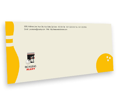 Online Envelope printing Bowling Alley