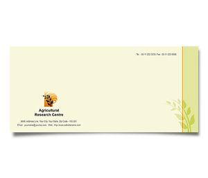 Envelope printing Agricultural Research Centre