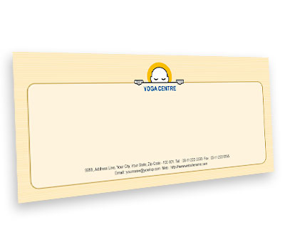 Online Envelope printing Yoga Studio