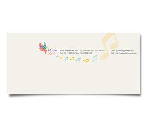 Envelope printing Music Zone