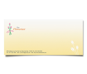 Envelope printing Florist Shop