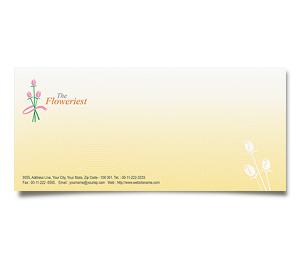 Envelope printing Florist Shop