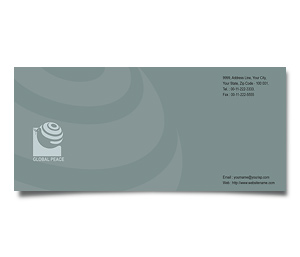 Envelope printing Global Peace Unity