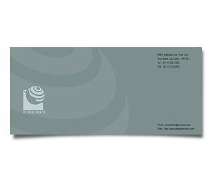 Envelope printing Global Peace Unity