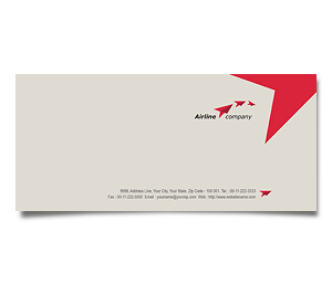 Envelope printing International Air Travel