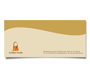 Envelope printing Leather Fashion