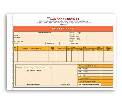 Online Coloured Bill Book printing Recipt Voucher