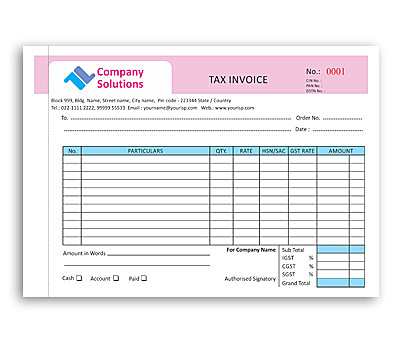 Online coloured bill book printing, Upload or use free