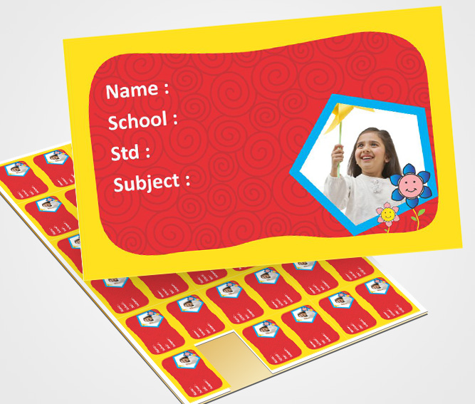 School Note Book Label printing Floral Image