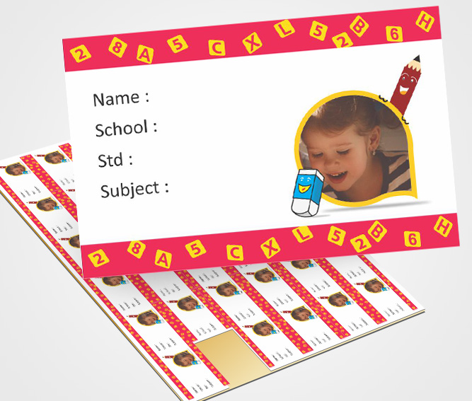 School Note Book Label printing Notebook labels