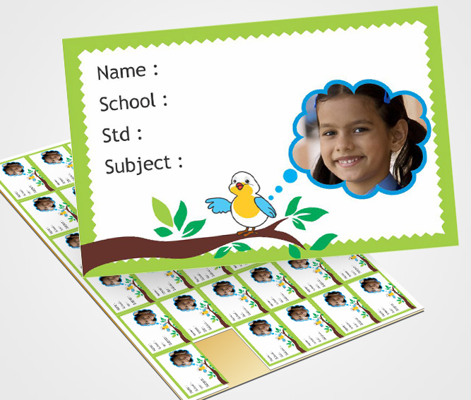 Flexi designs for Personalized School Note Book Label