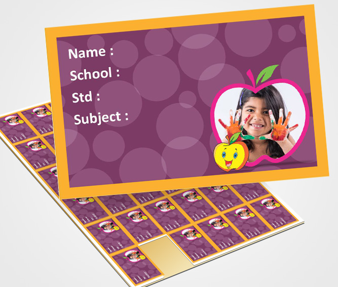 Online Personalized School Note Book Label Printing – Flexi Print