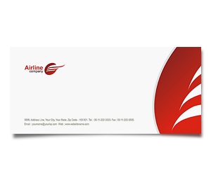 Envelope printing Airlines Travel