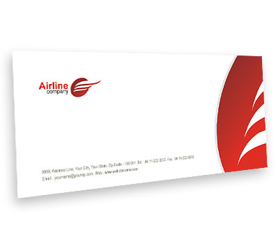 Envelope design for airlines travel offset or digital printing online envelope printing airlines travel reheart Gallery