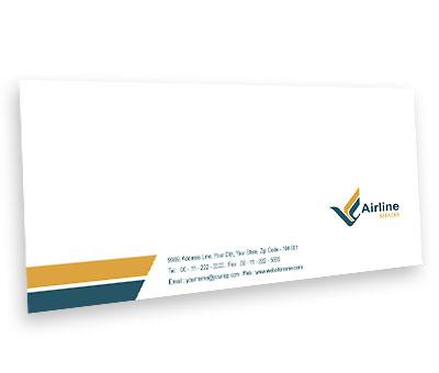 Online Envelope printing Air Lines Travel
