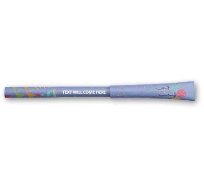 Flexi Paper Pens printing Blue Purple Birthday Paper Pens