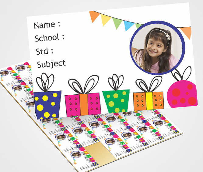 Online Personalized School Note Book Label Printing – Flexi