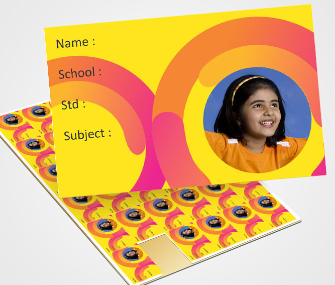 Online School Note Book Label printing Notebook labels