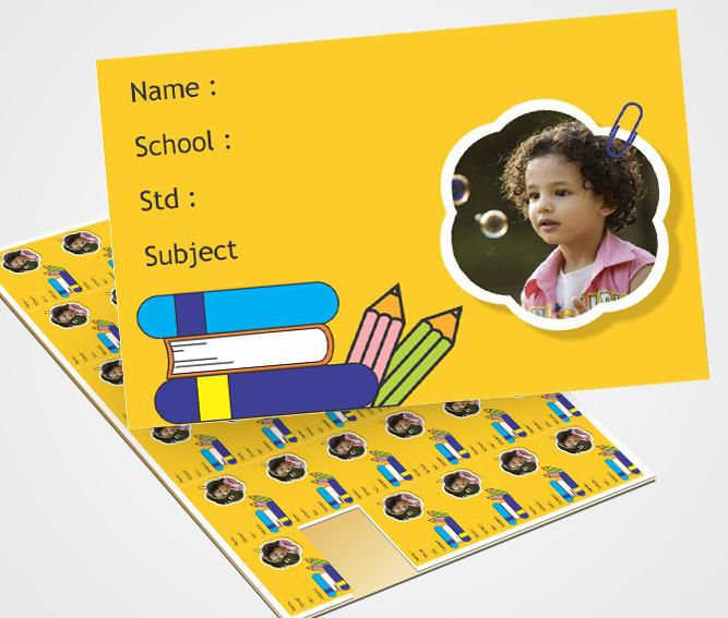 Online School Note Book Label printing Notebook labels