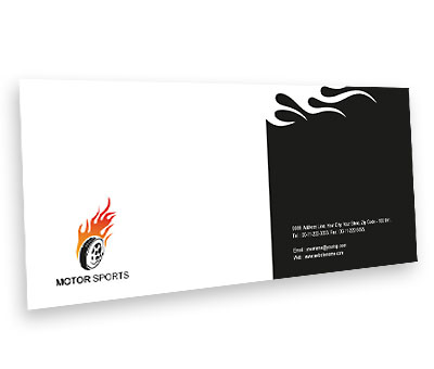 Online Envelope printing Sports Car Racing