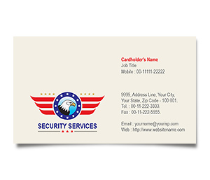 Business Card printing Security Guards Services