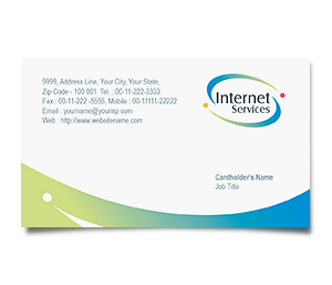 Business Card printing Satellite Internet Service