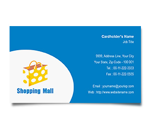 Business Card printing Shopping Mall