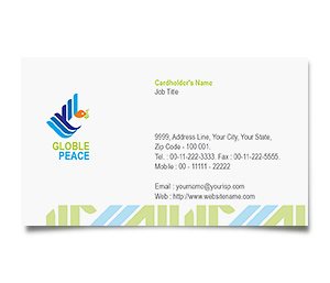 Business Card printing World Peace