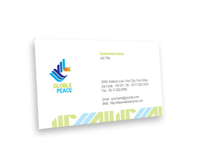 Online Business Card printing World Peace