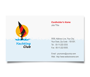 Business Card printing Yachting Club