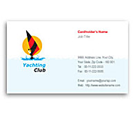 Online Business Card printing Yachting Club