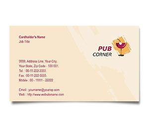 Business Card printing Pub Corner