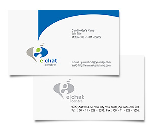 Business Card printing Chat Software