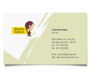 Business Card printing Spa and Hair Salon