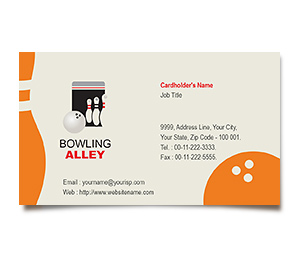 Business Card printing Bowling Alley