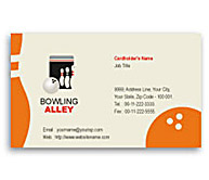 Online Business Card printing Bowling Alley