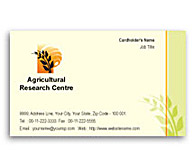 Online Business Card printing Agricultural Research Centre