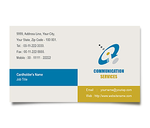 Business Card printing Communications Service