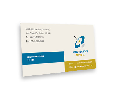 Online Business Card printing Communications Service