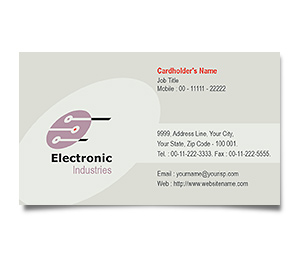 Business Card printing Electronics Projects