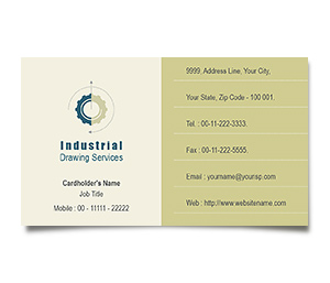 Business Card printing Industrial Drawing